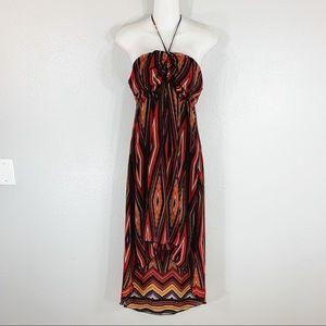 Valerie Bertinelli high low dress halter dress